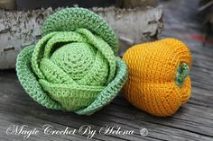 Crochet Cabbage 1pcs. Crochet food. Amigurumi food. Teether