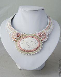 "Necklace beads handmade.  Fair Masters - handmade necklace ""Spring Bride.""  Handmade."