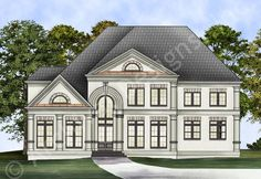 Westlaurel House Plan - Front Rendering