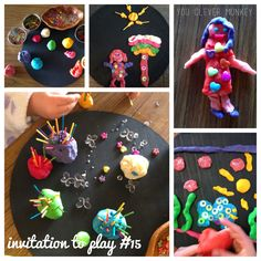 "Play dough pictures from you clever monkey ("",)"
