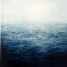 Indigo Grey Sea - Mary Beth Thielhelm, 2012 (Oil on Panel / 8 x 15 in.)