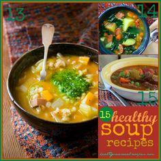 15 healthy soup recipes | Healthy Seasonal Recipes @Katie Schmeltzer Webster