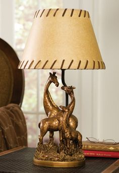 Delightful Safari Theme Bedroom Giraffe Family Table Lamp