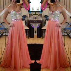 Sleeveless Prom Dress,Crystal Luxury Chiffon Prom Dresses,Backless Prom Gown by fancygirldress, $165.00 USD