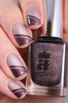 nägel farben 5 besten Nail Polish 5 below nail polish Fancy Nails, Trendy Nails, Cute Nails, Manicure And Pedicure, Gel Nails, Nail Polish, Nail Nail, Manicure Ideas, Purple Manicure