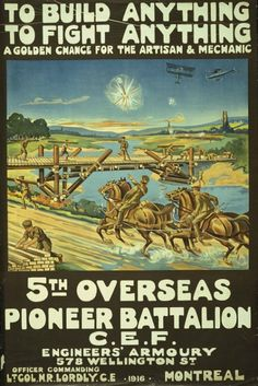 Canadian 1st world war poster