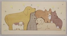 Wooden Puzzle / 6 Dogs