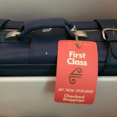 Classic Air New Zealand First Class bag tag @payport