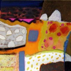Ann Wegmuller's selected artwork for this year's ING Discerning Eye Anne Davies, Seascape Paintings, Landscape Art, Gouache, Dinosaur Stuffed Animal, Abstract Art, Colours, Shapes, Watercolor