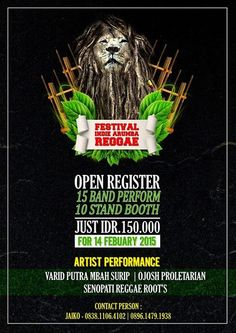 POSTER SENSEI PRODUCTION FOR EVENT FESTIVAL INDIE ARUMBA REGGAE SOFTWARE : PHOTOSHOP CS 4 COREL DRAW X4 DESIGN BY : TIRTA YANA