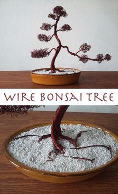 How to make a Bonsai tree out of wire. #zen #meditation #bonsai