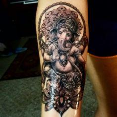 My Ganesha #ganeshatattoo That's impressive