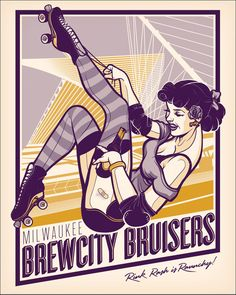 Pin-up style is hot right now and this particular style of poster really catches the eye. The colour scheme is basic which helps the general image. Not keen on the slanting though.