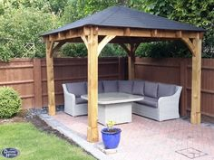 Our heavy duty Atlas Gazebo provides the perfect platform for your garden parties. It also acts as a cover for barbeques, garden furniture as well as hot tubs, so get the party started with this fantastic gazebo. All the timber for this gazebo is pressure treated so unlike others even the framework is pressure treated to ensure it lasts. Atlas Open Gazebo W3.2m x D3.2m