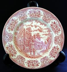 Wars Of The Roses, Vintage Plates, Side Plates, Free Delivery, Decorative Plates, Pottery, English, Antiques, Tableware