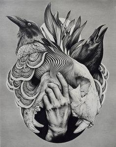 Black Tattoos, Ideas Para, Tattoo Ideas, Horses, Drawings, Mini, Illustration, Faeries, Tattoos