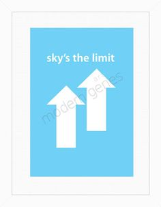 Sky's the limit Modern Print by moderngenes on Etsy, $20.00