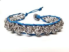 Metal Ball Bead Leather Woven Bracelet---I'll take one in in every color...thanks so much!