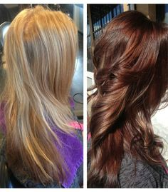 Beautiful Blonde to Auburn Hair Color for Fall 2016