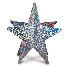 Club Pack of 12 3-D Silver Prismatic Star Table Decoration Centerpieces 12
