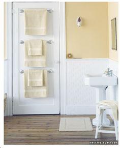 Perfect! back of the door multiple towel rack