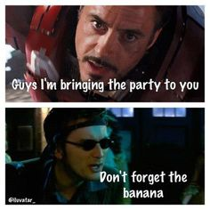 """Always bring a banana to a party."" - Ten (10) - Doctor Who"