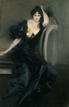 Giovanni Boldini (Italian, 1842-1931) : Gertrude Elizabeth (née Blood), Lady Colin Campbell, 1897. National Portrait Gallery, London.