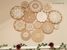 Crochet Vintage Doilies on Embroidery Hoops, a good option for some of my special doilies!