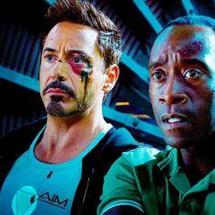 Tony and Rhodey