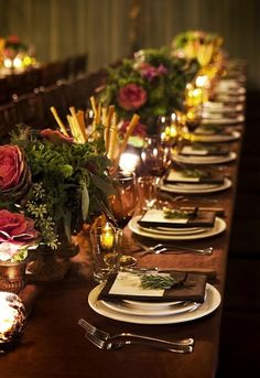 rustic table settings via http://partyresources.blogspot.com/2012/02/rustic-tables.html
