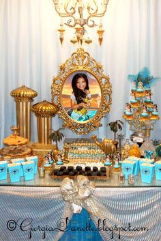 Stephanie H's Birthday / Jasmine Party - Photo Gallery at Catch My Party Jasmine Birthday Cake, Aladdin Party, Disney Princess Birthday Party, Jasmin Party, Princess Jasmine Party, Arabian Party, Arabian Nights Party, 4th Birthday Parties, 8th Birthday