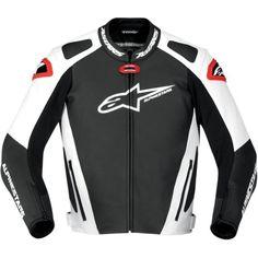 Alpinestars Gp Pro Men's Leather Street Bike Racing Motorcycle Jacket - Black/white/red / Size 56 http://www.motorcyclegoods.com/top-11-for-best-race-leather-jackets-men/