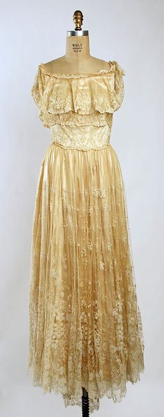 Wedding Dress - 1923 - Silk, cotton - @~ Mlle