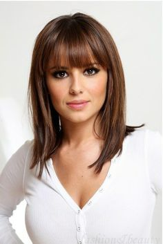 Image for Medium length straight hairstyles with bangs Medium Hair Styles For Women, Short Hair Styles, Should Length Hair Styles, Hairstyles With Bangs, Straight Hairstyles, Medium Hairstyles, Layered Hairstyles, Easy Hairstyles, Beautiful Hairstyles