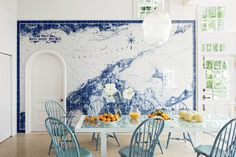 Designer Russell Piccione   Shelter Island » A perfect map wall!