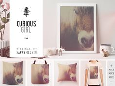 Small #selection of #products using my latest #photo at Society6  --> https://society6.com/product/the-curious-girl-do4_print #horses #nature #wild