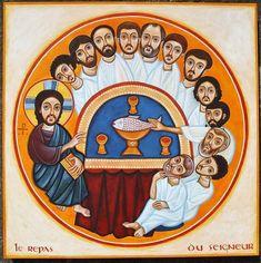 Catholic Art, Religious Art, Prayer Images, Pictures Of Jesus Christ, Christian Religions, Last Supper, Drawing Lessons, Sacred Art, Christian Art