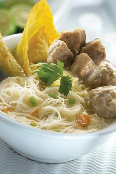 Bakso - Indonesian popular meatball soup.