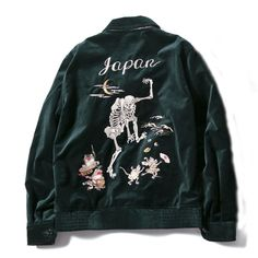 """The souvenir jacket has its origins in post-war Japan. You'd have to strike eBay gold to find an original in good condition, but, failing that, you could always try one of the versions made by designers such as Saint Laurent, Valentino and Gucci this season. How to wear it, then? As with any """"statement"""" piece, the best course of action is to keep the rest of your outfit understated."""