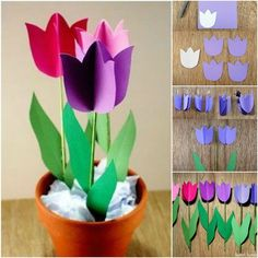 tulips garden care Sweet home : Paberist tulbid potis Kids Crafts, Crafts For Teens To Make, Mothers Day Crafts For Kids, Crafts For Seniors, Spring Crafts For Kids, Hobbies And Crafts, Easter Crafts, Art For Kids, Diwali For Kids