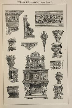 Italian Renaissance Furniture Designs Large by PaperPopinjay