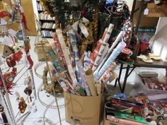 """(#58) WRAPPING PAPER  New at Rikki's Refuge Retail on 8/15/14!  Rikki's Refuge Re-Tail """" A Pawsome Resale Shop """" 3503 Lafayette Blvd. Fredericksburg, VA. 22408 540-891-5300 RE-TAIL on Facebook: https://www.facebook.com/ReTail.org Store Hours: MON-SAT: 10:00 AM - 6:00 PM SUN: 12:00 PM - 5:00 PM"""