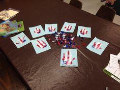 Handprint flags