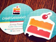 40 Creative Circle Business Cards for Inspiration Dessert Logo, Design Agency, Branding Design, Logo Design, Graphic Design, Branding Ideas, Print Design, Round Business Cards, Circle Business Card