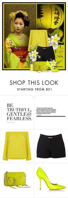 """""""Be truthful, gentle and fearless"""" by anna-survillo ❤ liked on Polyvore featuring Oasis, Forever New, Rebecca Minkoff, Casadei and Balmain"""
