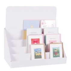 """18"""", Cardboard Greeting Card Display Stand: Amazon.co.uk £8.99 - put postcards in for guestbook at reception"""