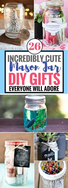Need a special and easy DIY Gift for a loved one? Then you have to try out these fantastic mason jar diy gift ideas. It's a great way to show someone that you care with these awesome mason jar gifts!