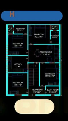 2bhk House Plan, Free House Plans, Simple House Plans, Beautiful House Plans, Model House Plan, Duplex House Plans, House Layout Plans, Bedroom House Plans, House Roof Design