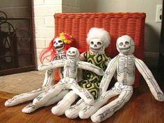 How to Make a Halloween Sock Skeleton