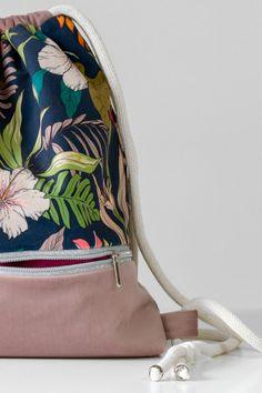 Drawstring Bags, Unique Gardens, Powder Pink, Backpack Bags, Bag Making, Pink Flowers, Gym Bag, Polish, Backpacks